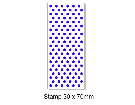 Spots background stamps  RUBBER only  30 x 70mm
